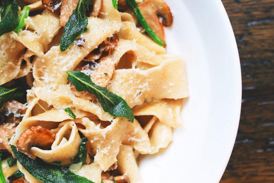 Los tipos de pasta italiana