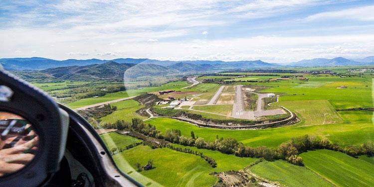Aeródromo de Santa Cilia de Jaca. Fuente: Jaca.com