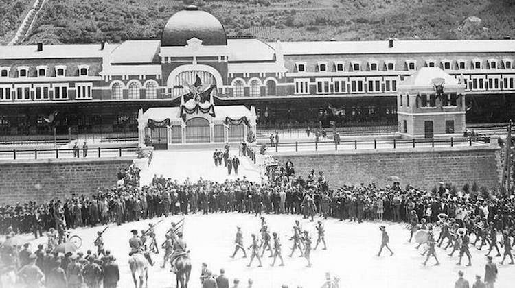 Inauguración de la Estación Internacional de Canfranc