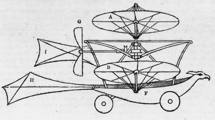 Propuesta transporte aéreo de Sir George Cayleys (año 1843)