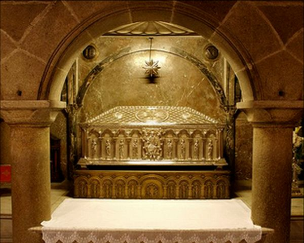 Tumba Santiago el Mayor en la Catedral de Santiago de Compostela