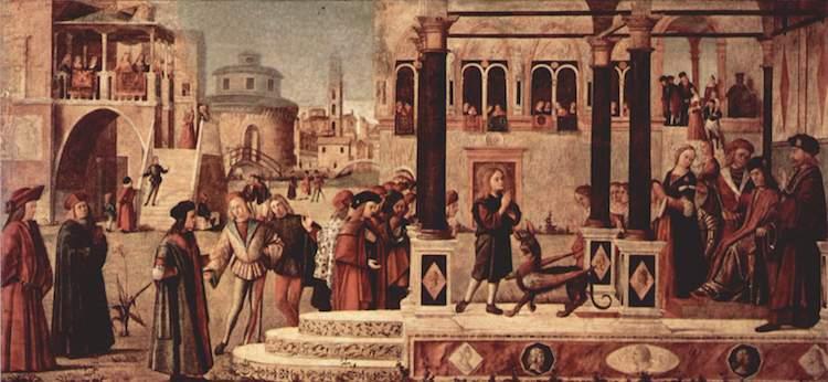 San Trifone amansa al basilisco (Vittore Carpaccio)